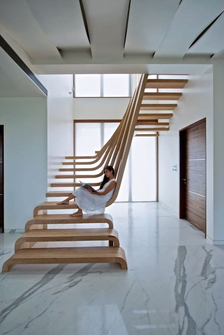 30 Examples Of Modern Stair Design That Are A Step Above The Rest | House Steps Design Inside | Gallery | Front | In House Construction | Stair Decoration | Grill