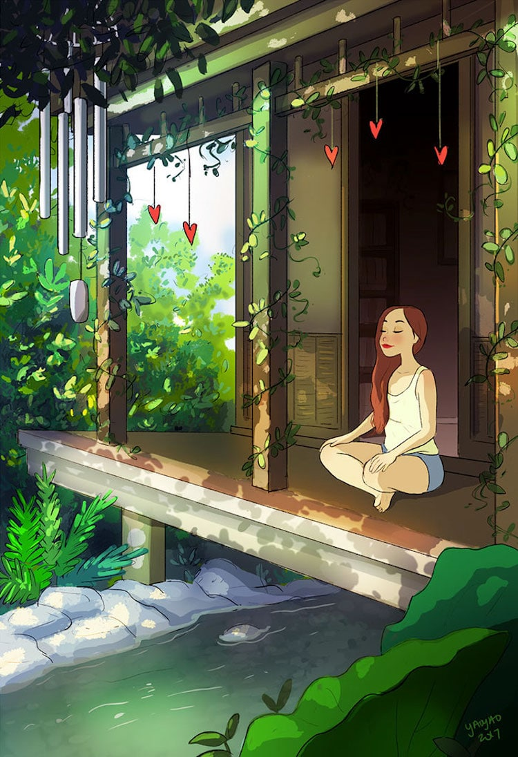 Cartoon Introvert Girl Wallpaper Benefits Of Living Alone Showcased In Charming Illustrations