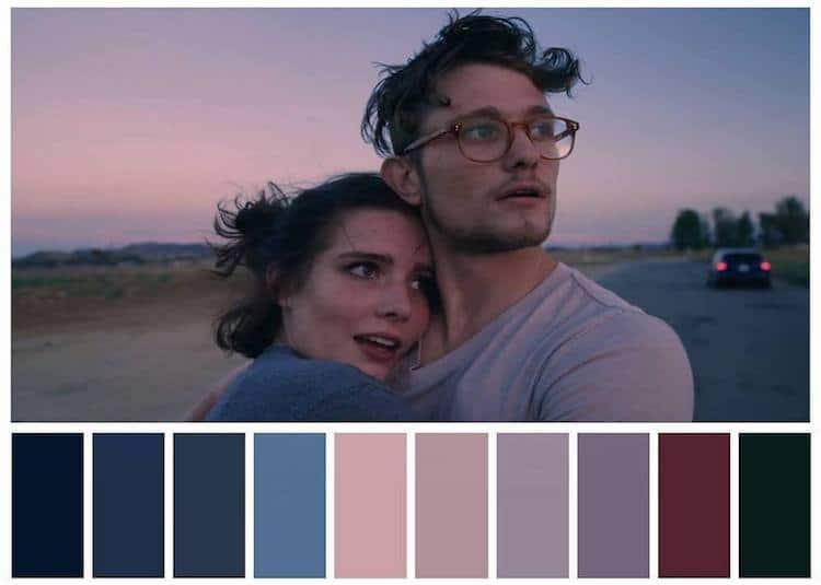 Palette de couleurs dans les films