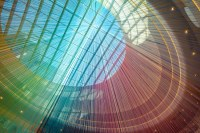 Shimmering Yarn Art Fills the Mall of America with Rainbow