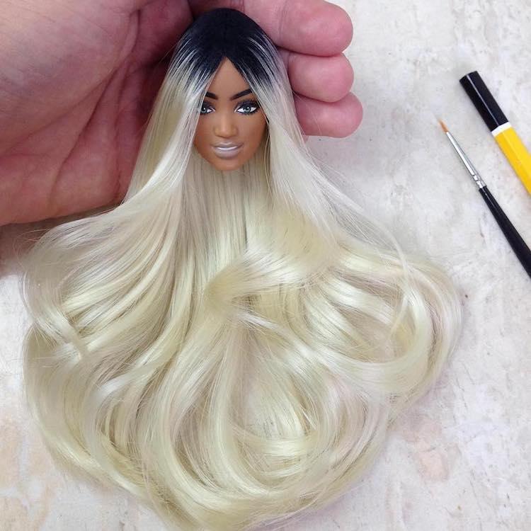artist fashions custom dolls