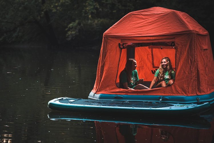 Floating Water Tent Makes the World Your Waterbed