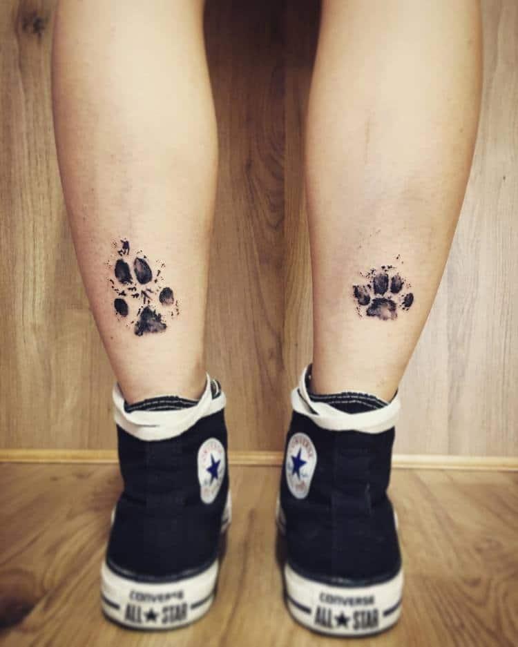 Dog Paw Print Tattoo Ideas