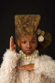 high-fashion afro art shows portraits
