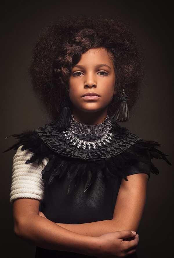 Natural Black Hair Girl