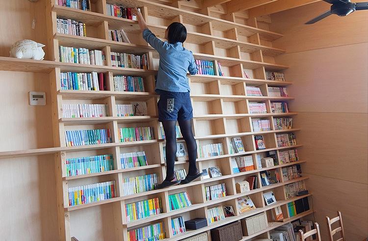 Diagonal Bookshelf Plans