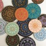 Mandala Artist Hand-Paints Mesmerizing Patterns on Ceramic Plates and Mugs