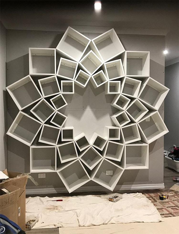 Creative Bookshelf Design is a Pinterest DIY Done Right