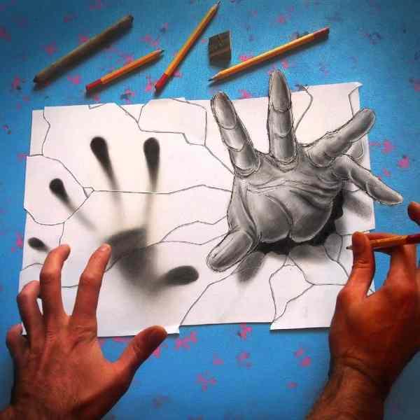 Anamorphic Illusions Drawings
