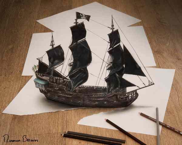 Anamorphic 3D Illusion Drawings
