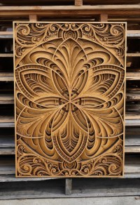 Mesmerizing Laser-Cut Wood Wall Art Feature Layers of ...