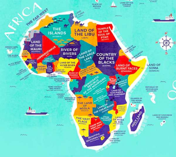 Literal World Map Reveals the Historical Meanings of
