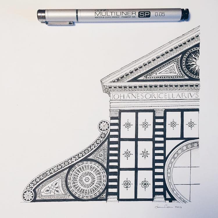 incredible miniature architectural drawings