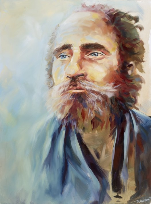 Faces of Santa Ana Paintings of Homeless People