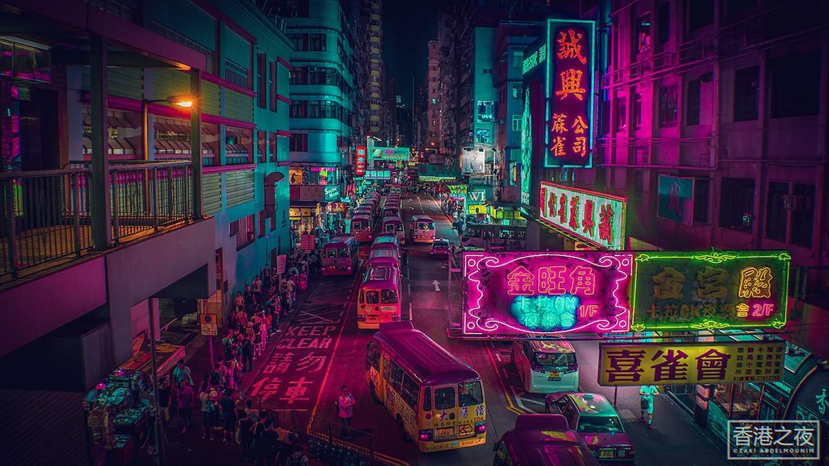 Tokyo Geisha Girl Wallpaper 1920x1080 Photographer Captures Neon Streets Of Hong Kong And Tokyo