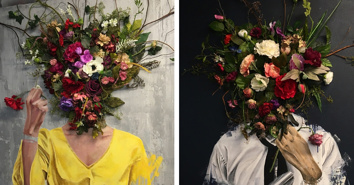 surreal portraits replace heads
