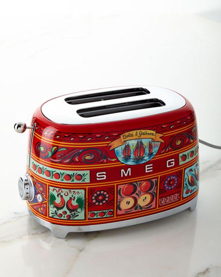 tiny kitchen appliances farm style table smeg collaborates with dolce & gabbana on ...