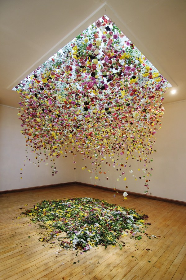 Installation Art Features Thousands Of Flowers Suspended