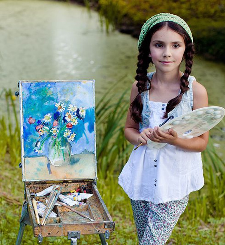Elisabeth Anisimow Living Pictures Child Prodigy Artist
