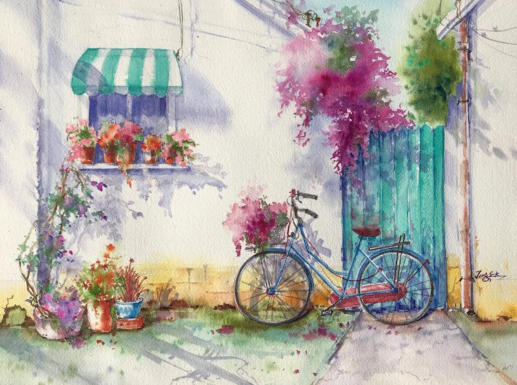 watercolor paintings capture the