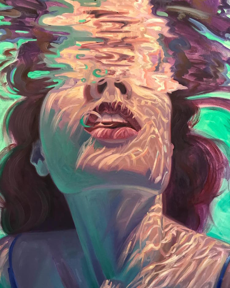 underwater paintings capture moments