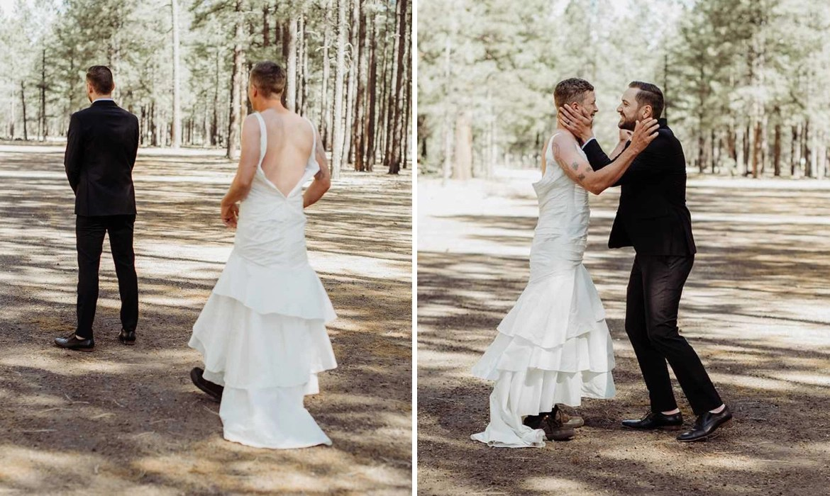 Bride Sends Her Brother In Her Place For A Funny Wedding Prank