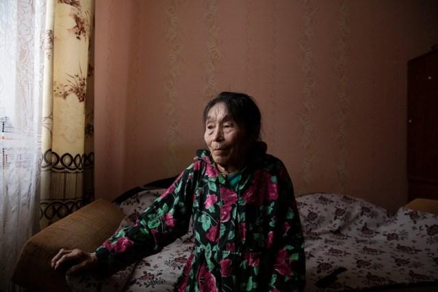 Elderly Siberian Woman by Oded Wagenstein