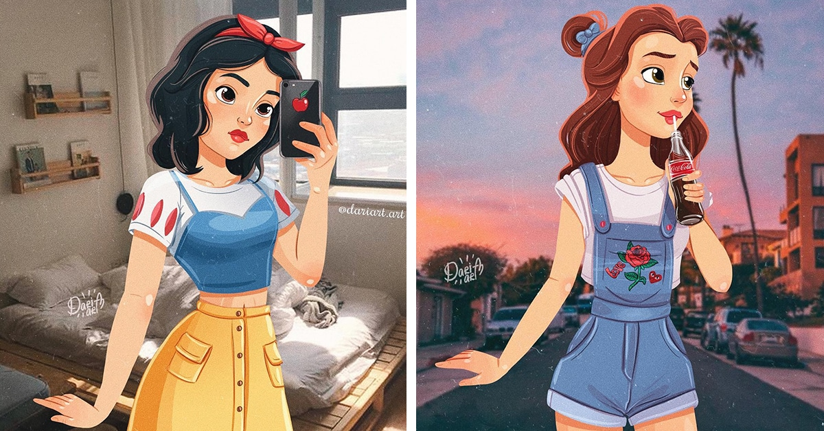 disney princesses creatively reimagined