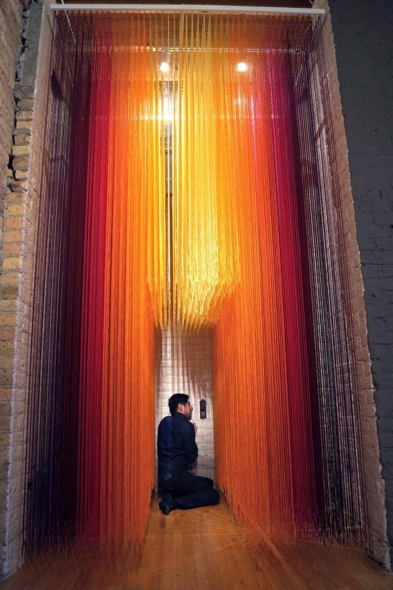 HOTTEA Yarn Installations Yarn Art