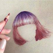 vibrant color pencil drawings show
