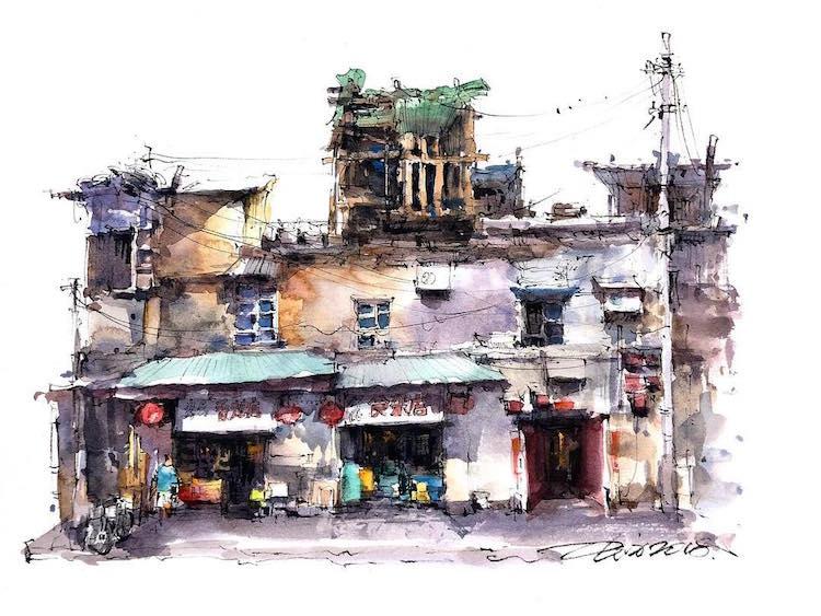 watercolor sketch paintings capture