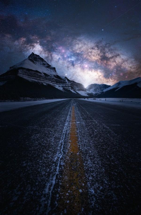 dreamy night landscape inspired