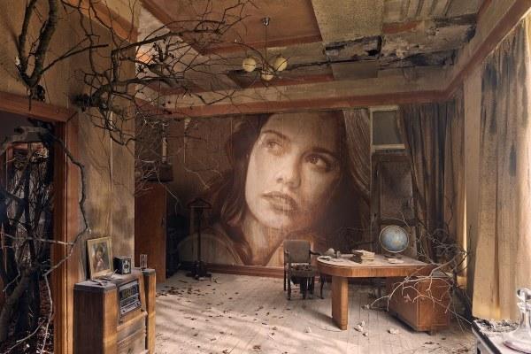 Street Artist Transforms Abandoned Art Deco Mansion