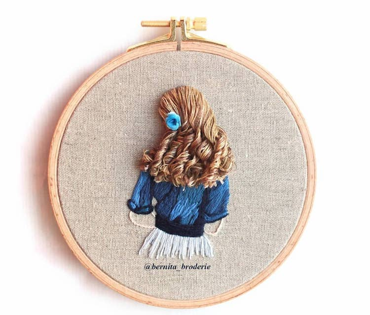 clever 3d embroidery mimics