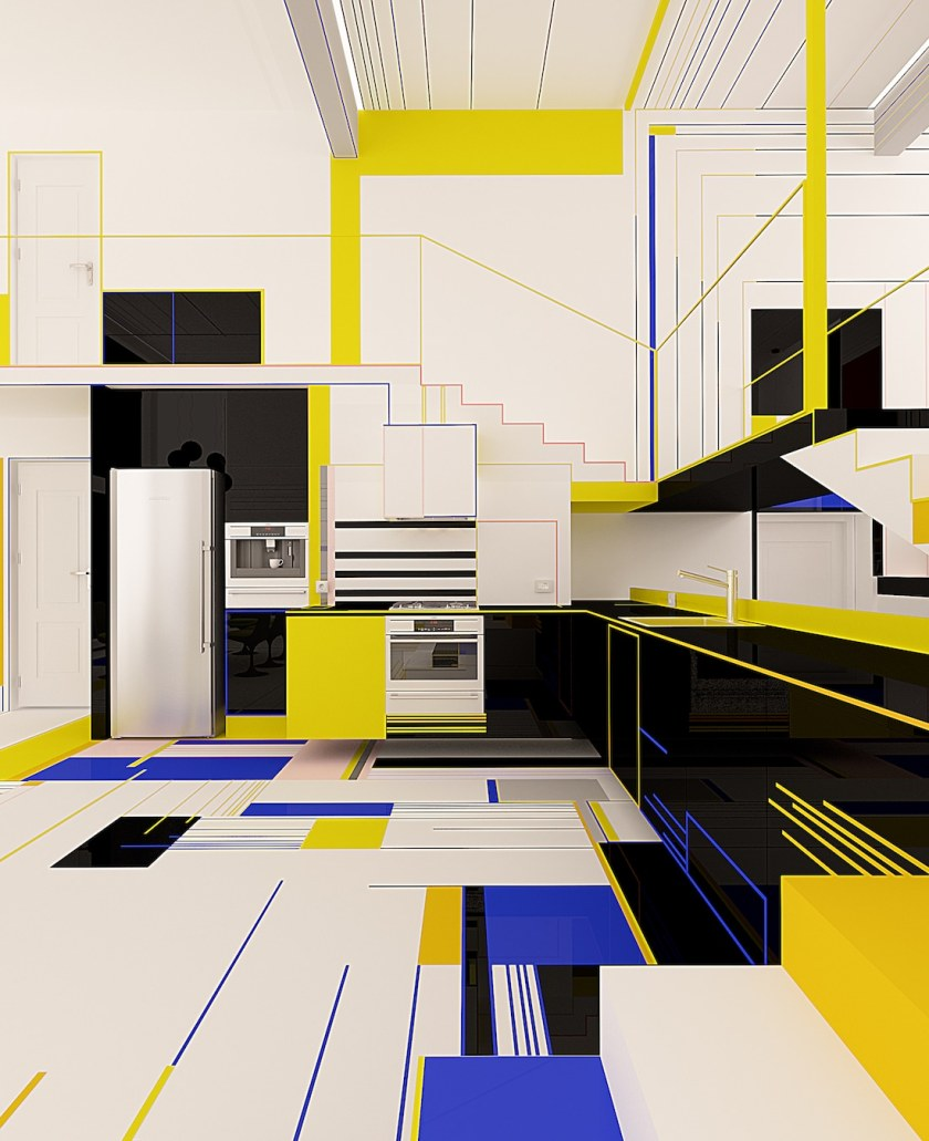 Brani Desi Mondrian Apartment De Stijl Apartment