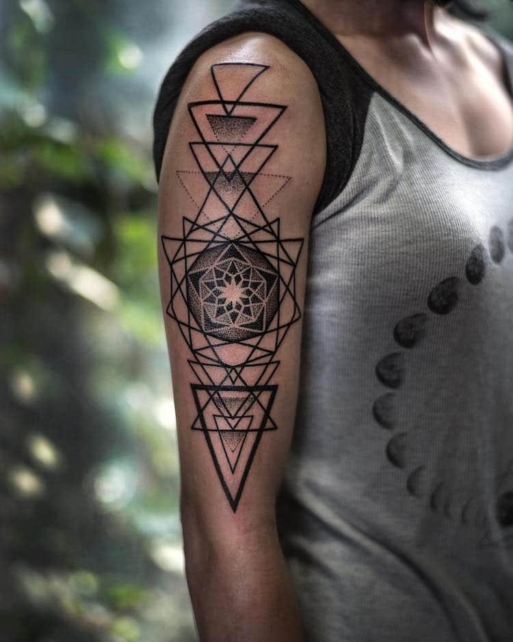 Geometric Tattoo Artists : geometric, tattoo, artists, Sacred, Geometric, Tattoo, Translates, Nature's, Mathematics