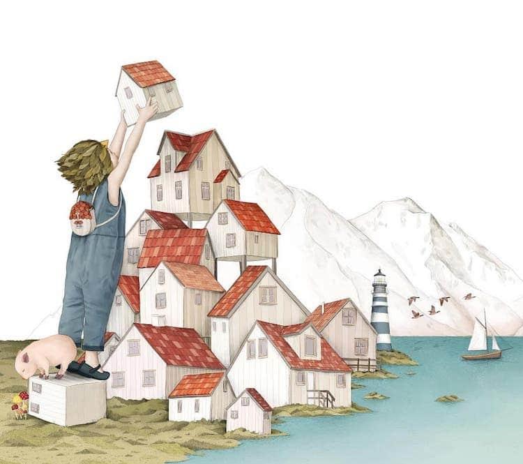 whimsical illustration art evokes