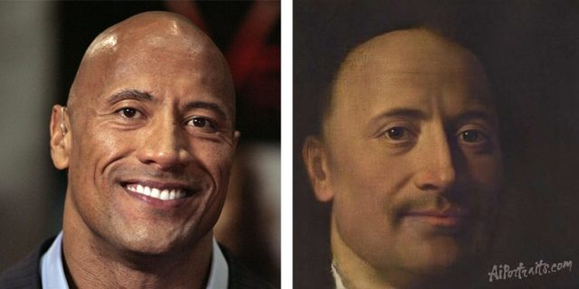 AI Portraits The Rock
