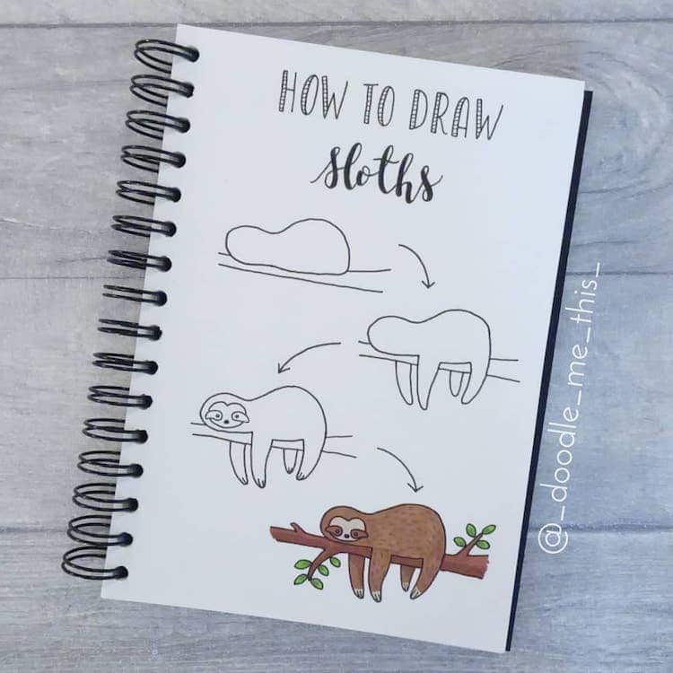 Doodle Me This Sloth Drawing
