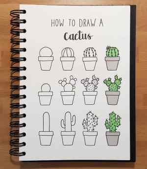 doodle easy tutorials draw step drawing cactus subjects