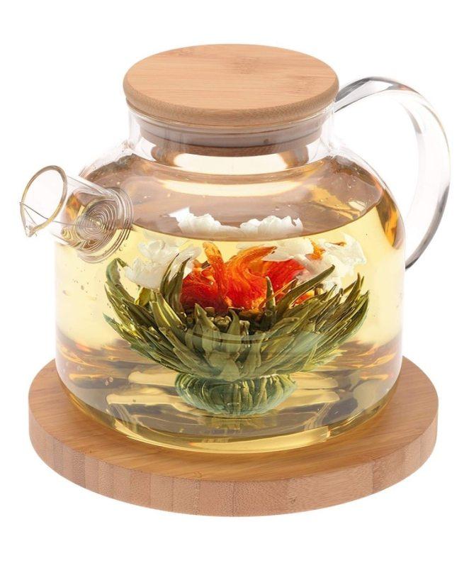 Juego de té floreciente