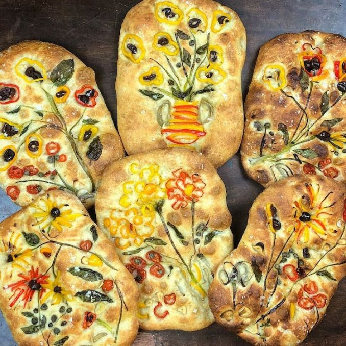 Baker Creates Visually Tasty Focaccia Bread Art Inspired