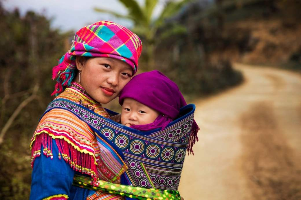 Mother and child in Northern Vietnam