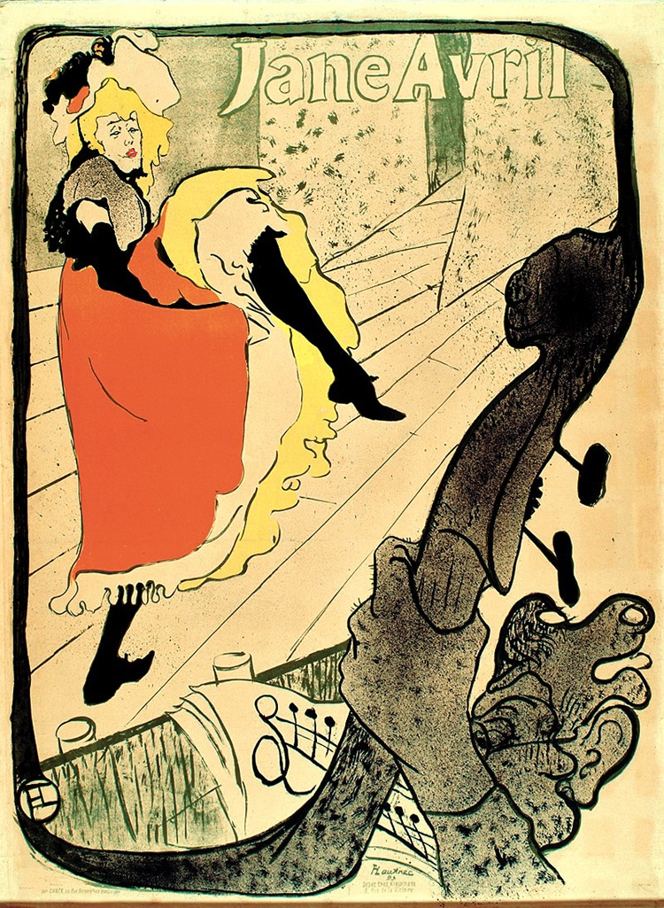 """Jane Avril,"" by Henri de Toulouse-Lautrec Cabaret"