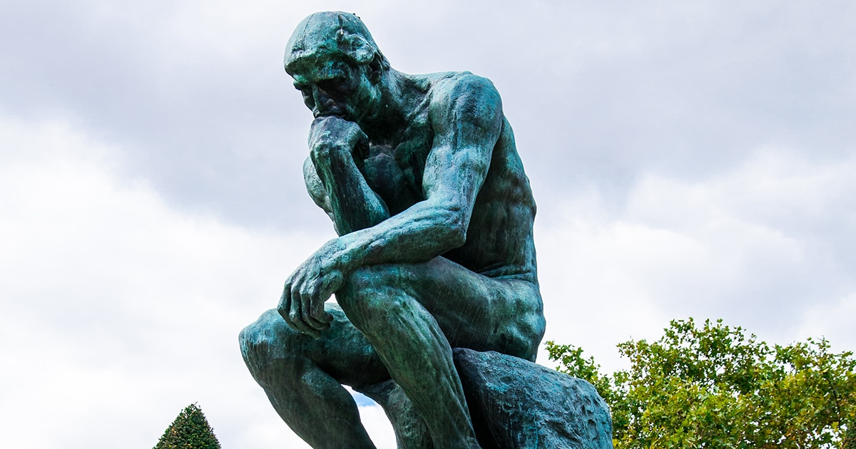 'The Thinker' statue by Auguste Rodin
