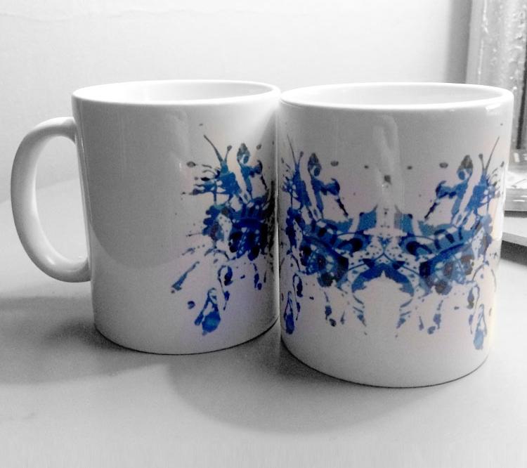 Schizoprenic nyc blue rorschach test ink blot mugs
