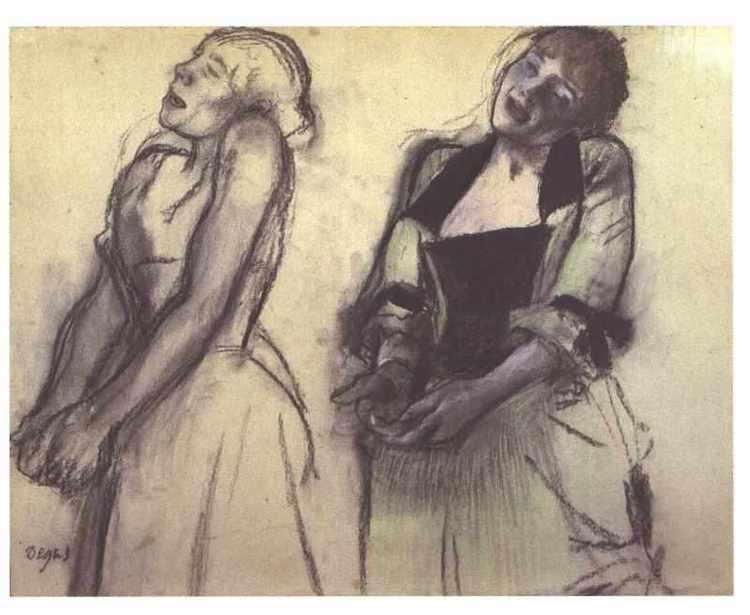 Figure Drawing by Edgar Degas