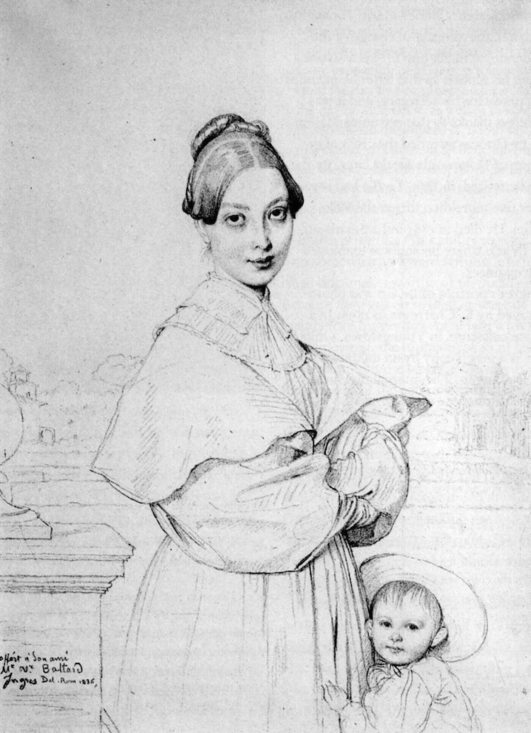 Figure Drawing by Ingres