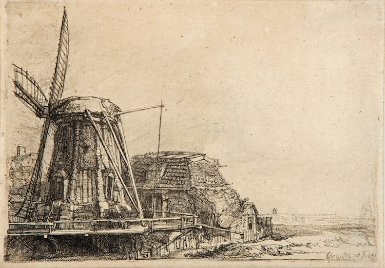 Drawing by Rembrandt