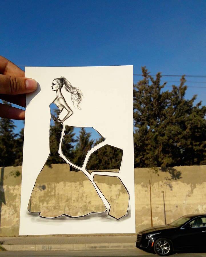 Illustrator Creates New Fashion CutOuts to Turn Any
